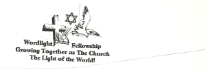 The Logo of Wordlight Fellowship represents that we are neither Jew nor Gentile - We are members in particular of The Church of His Body - Jesus our Lord literally by our spiritual birth of the gift of holy spirit.  We are baptized by Jesus in the spirit by Grace.