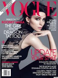 Rooney Mara on Vogue as The Girl with the Dragon Tattoo